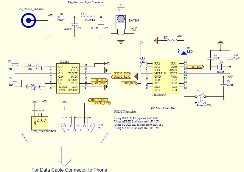 pic to gsm phone connection hserin problems  page, wiring diagram