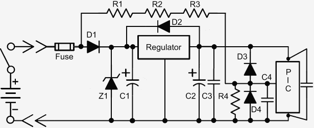 voltage monitor for car battery