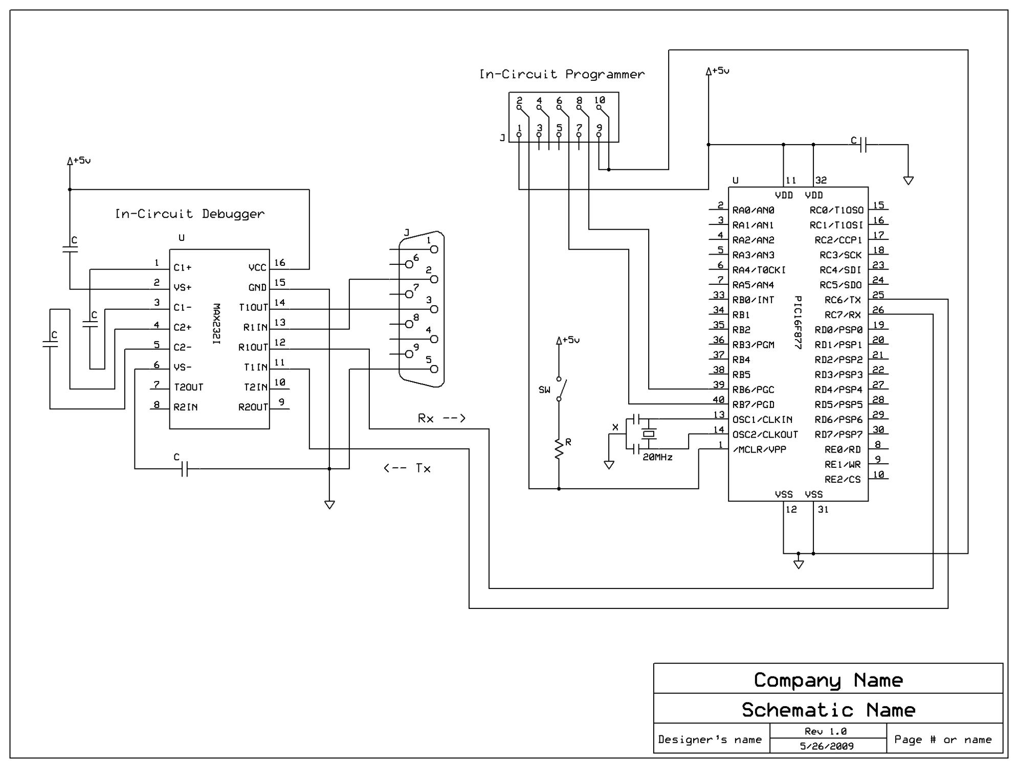 serial communication with pic16f877a