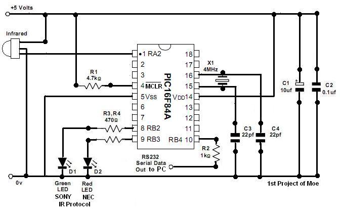 PIC Beginner - Infrared Receiver and IR Protocol