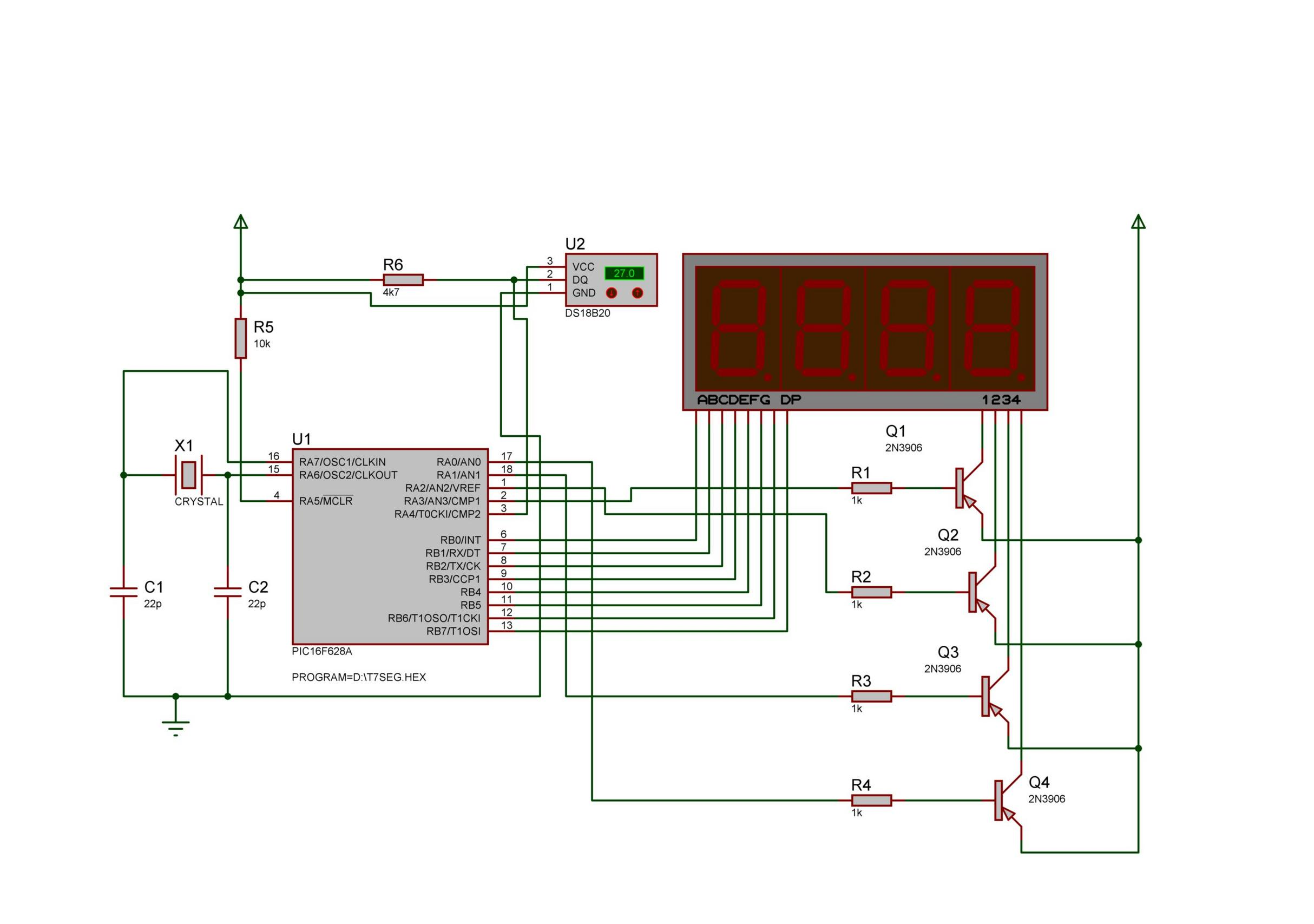 Thermo 7 Segments Little Problem In The Circuit Above Using Seven Segment Commond Anode Type Attached Images