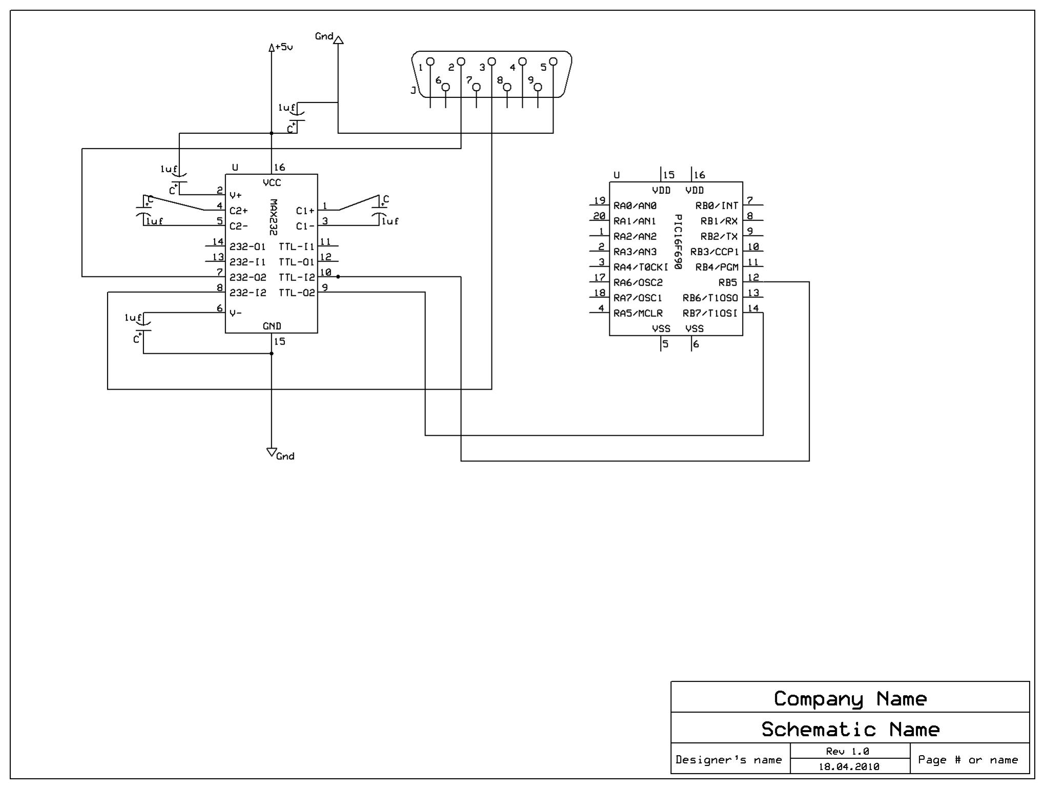 Help With Pic16f690 Max232cpe Max232 Pin Diagram Attached Images