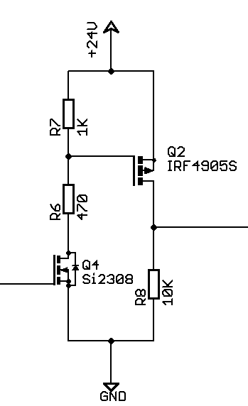 switch with a mosfet